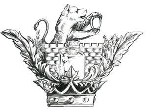 Lux Leonis logo is based on my coat of arms , hand drawn by my former student at Mercer University