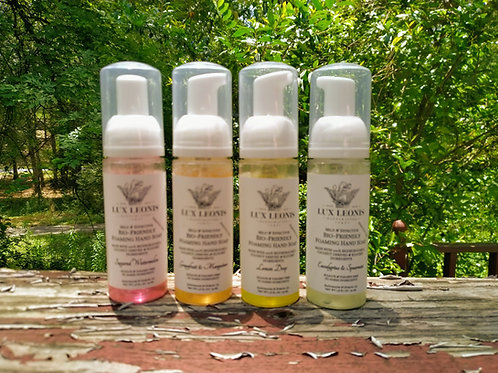 Set of 4 Personal size, bio-friendly hand soap, 1.8 oz