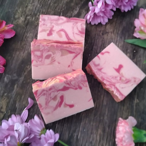 Blush and Suede Goat Milk Soap