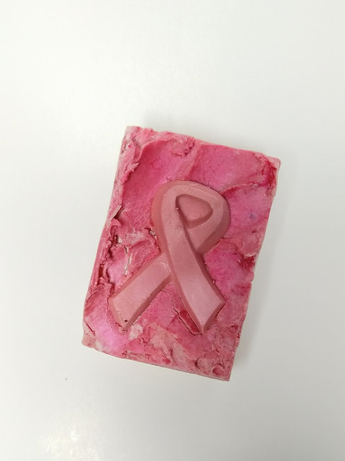 I fight with you, pink ribbon soap