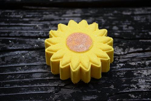 Hello Sunshine Bath Bomb with hidden pop of color