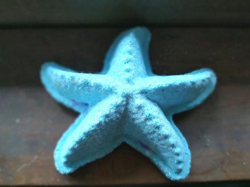 Sea Star bath bomb with color pop