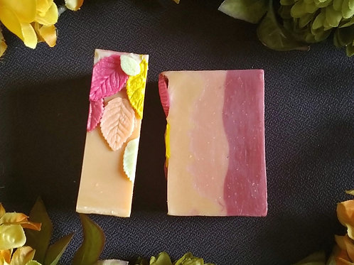 Leaves of Fall luxury soap bar