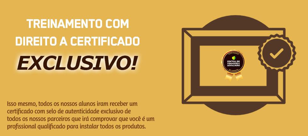 Certificado curso de Serralheria Ecoline