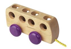 Wooden Bus Purple