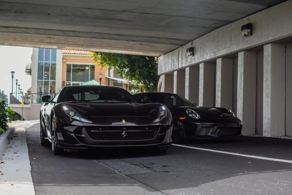 Ferrari 812 and Porsche 991.2 GT3