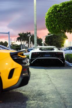 McLaren 675lt and Lamborghini Aventador SV