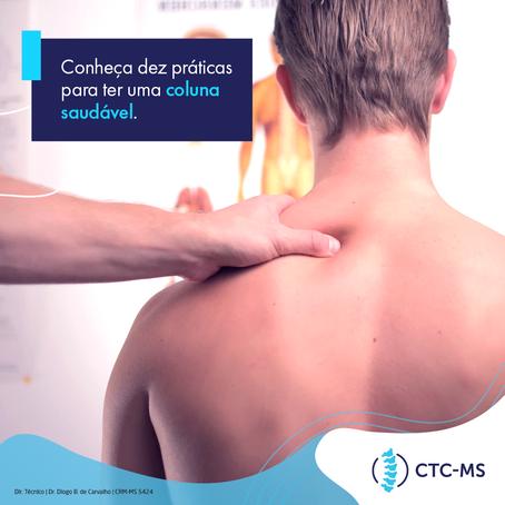 Conheça dez práticas para ter uma coluna saudável | CTC-MS