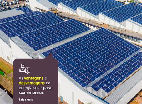 As vantagens e desvantagens da energia solar para sua empresa