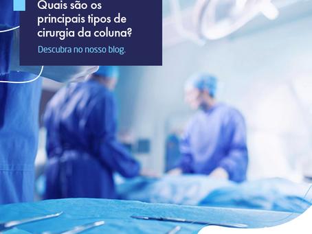 Quais são os principais tipos de cirurgia da coluna? | CTC-MS