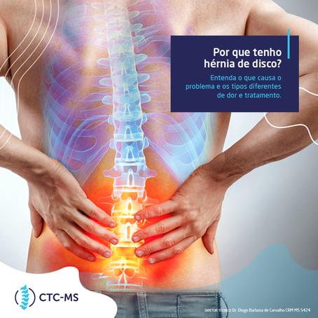 Hérnia de disco: o que causa o problema + tipos diferentes de dor e tratamento | CTC-MS