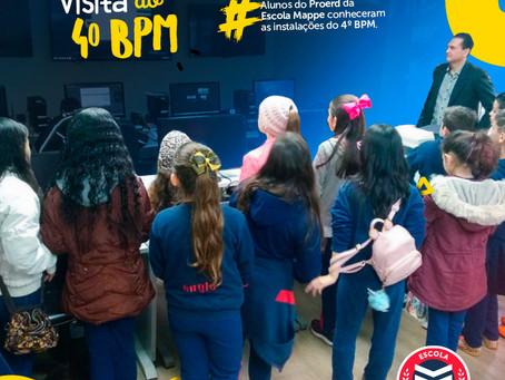 Alunos do Proerd da Escola Mappe visitam o 4º BPM | Escola Mappe