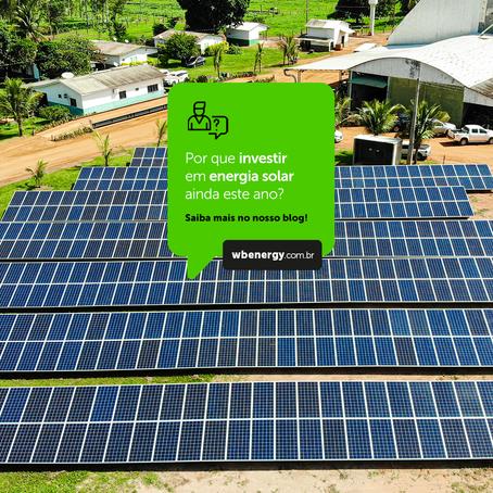 Entenda porque investir na energia fotovoltaica ainda este ano! | WB Energia Solar