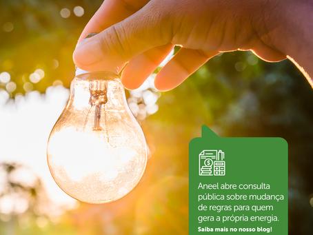 Aneel abre consulta pública sobre mudança de regras para quem gera a própria energia