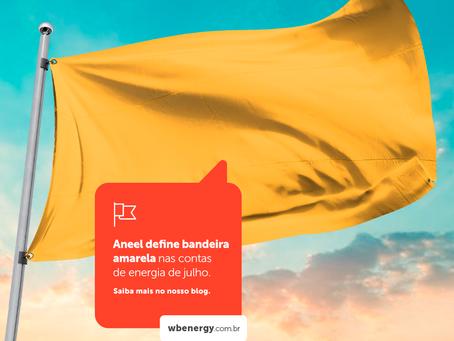 Aneel define bandeira amarela nas contas de energia de julho | WB Energia Solar