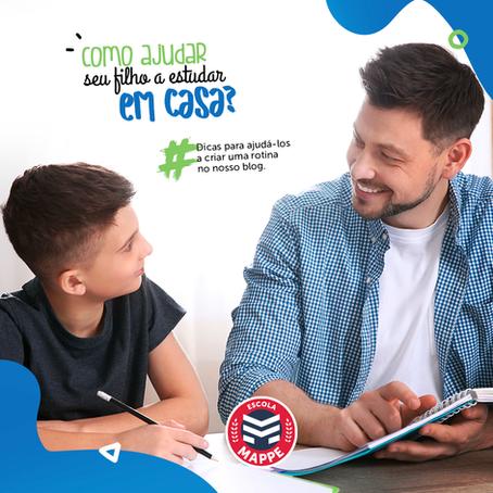 Como ajudar seu filho a estudar em casa e manter uma rotina? | Escola Mappe