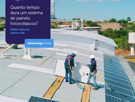 Quanto tempo dura um sistema de painéis fotovoltaicos?