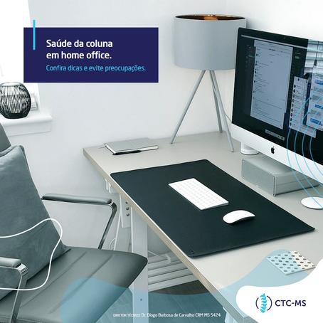 Saúde da coluna em home office | CTC-MS