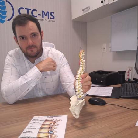 Hérnia de disco é a causa mais comum da procura por especialistas | CTC-MS