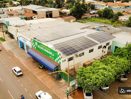 Instalação do sistema fotovoltaico no Supermercado Guanabara Central | WB Energia Solar