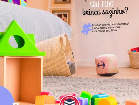 Brincar sozinho é importante! Saiba como e por que incentivar seu filho | Escola Mappe