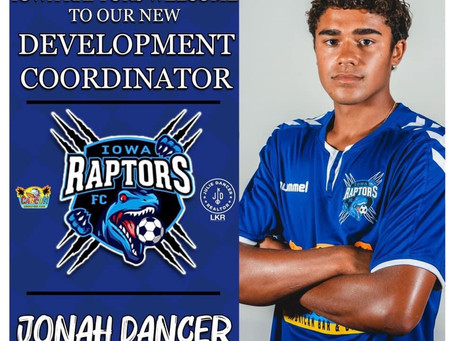 Jonah Dancer joins staff as Club Development Coordinator