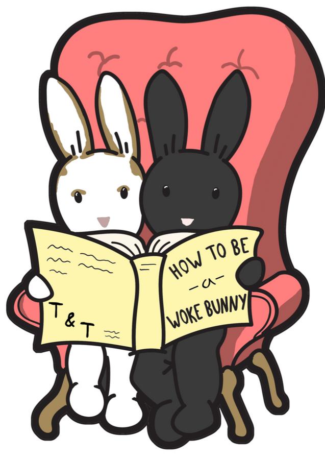 Woke Bunnies Enamel Pin Fundraiser for RAICES