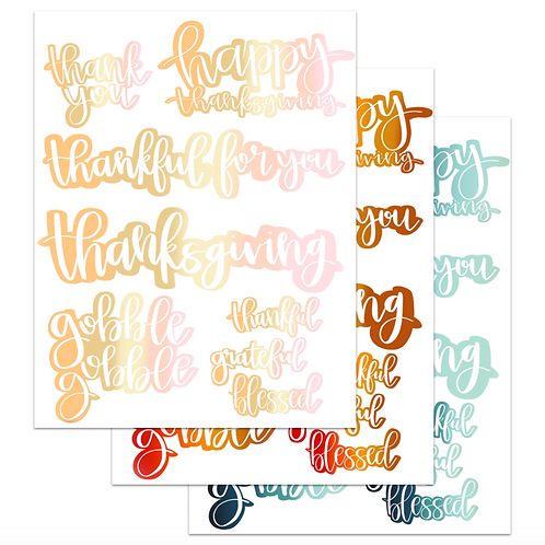 Thanksgiving Digital Stickers