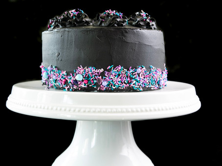 Black Chocolate Halloween Cake