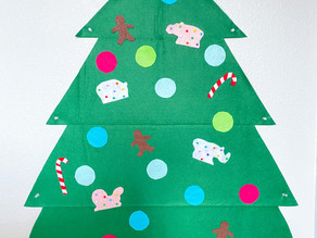 DIY Felt Tree for Kids - 12 DIYS of Christmas