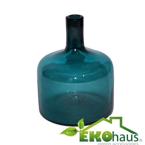 Botella antigua azul
