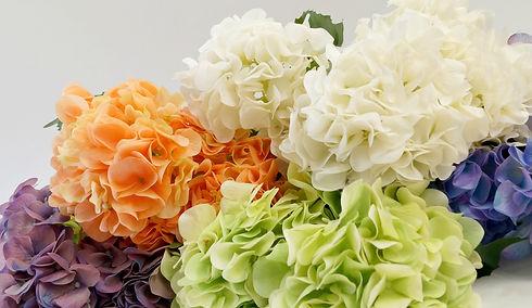 Flores artficiales hortensias