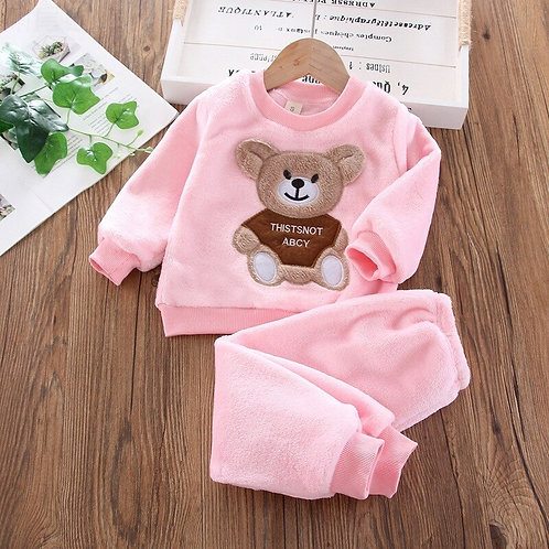 Winter Flannel Pajamas Newborn Clothes Baby Boy Clothes Set for Girls Clothing