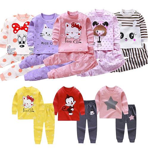 Children Pajamas Baby Clothing Set Kids Unicorn Cartoon Sleepwear  set