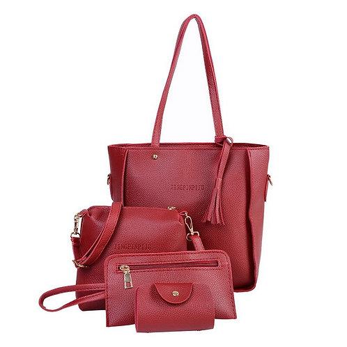 4 Pcs/Set Women Handbag 2018 Messenger Bags for Ladies Fashion Shoulder Bag