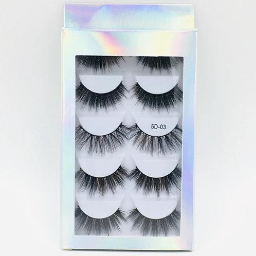 5 Pairs Multipack 3D Soft Mink Hair Handmade False Eyelashes