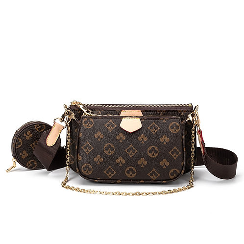 Famous Brand Bag Luxury Crossbody Bag 3-In-1 Vintage Handbag