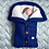 Thumbnail: Autumn and Winter Baby Stroller Sleeping Bag Outdoor Button Baby Knitted