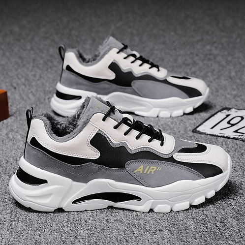 Winter Men's Casual Shoes Fashion Plus Velvet Outdoor Fashion Sneakers