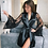 Thumbnail: Sexy Large Size Sexy Satin Night Robe Lace Bathrobe Perfect Bride Bridesmaid