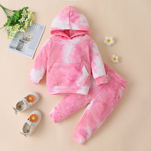 Children Hooded Sweater Suit Cotton Pullover Kids