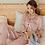 Thumbnail: Sleepwear Women's Faux Silk Satin Pajamas Set Nightwear Long Sleeve Pajamas