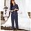 Thumbnail: Winter Couple Pajamas Set Silk Loves Print Long Sleeve Sleepwear