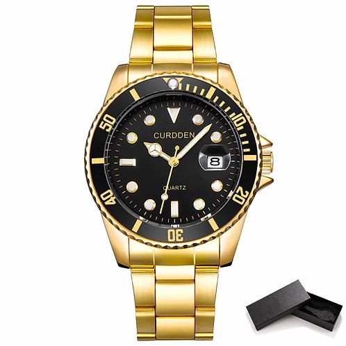 Men Classic Quartz Mens Watches Top Luxury Watch Man Gold Stainless Steel