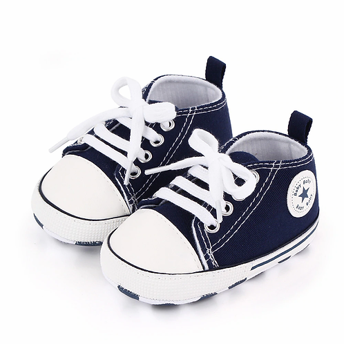 Baby Shoes Boy Girl Star Solid Sneaker Cotton Soft Anti-Slip Sole Newborn