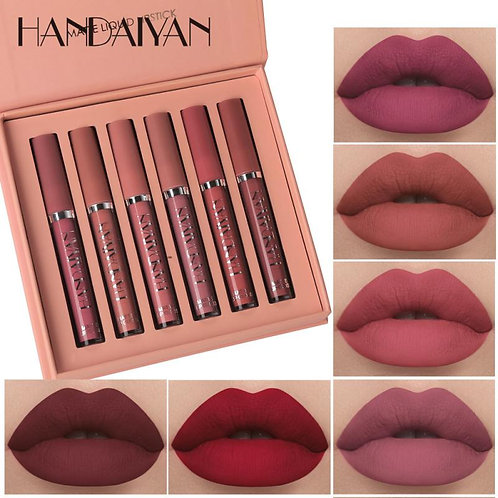 6 Colors/Set Fashion Lip Gloss Sets Natural Moisturize Waterrproof Velvet