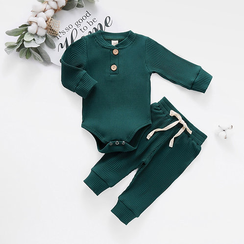 Baby Girl Winter Clothes Infant Newborn Baby Girls Boys Knitted Ribbed Solid