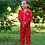 Thumbnail: Kids Pajamas Girls Boys Long Sleeves Fall Winter Clothes Cartoon Printed Silk