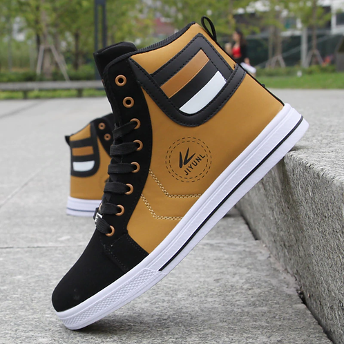 Men's Skateboarding Shoes High Top Leisure Sneakers Breathable Street