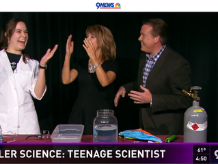 Teenage Scientist on Channel 9 News in Denver